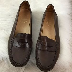 JACK ROGERS Quinn Brown Leather Penny Loafer 8